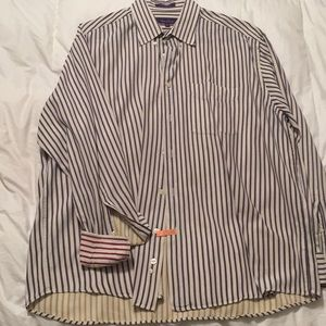 Men's long sleeve button up cotton dress shirt